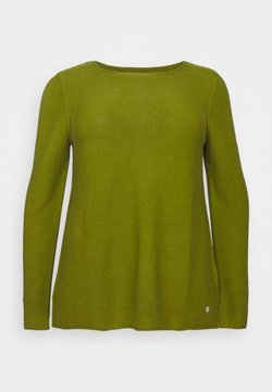 MY TRUE ME TOM TAILOR - STRUCTURED - Strickpullover - wood green