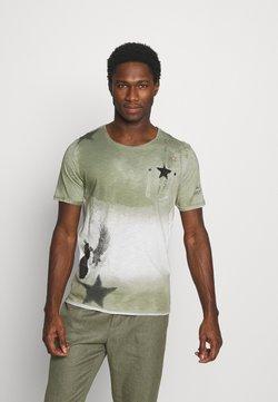 Key Largo - NASHVILLE ROUND - T-shirt print - dark green