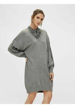 Object - STRICKKLEID  - Vestido de punto - medium grey melange
