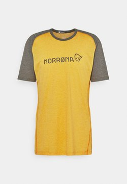 Norrøna - FJØRÅ EQUALISER LIGHTWEIGHT - T-Shirt print - olive night/lemon chrome