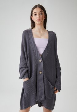 PULL&BEAR - Strickjacke - mottled dark grey