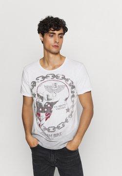 Key Largo - LUCKY ROUND - T-shirt print - offwhite/anthrazit