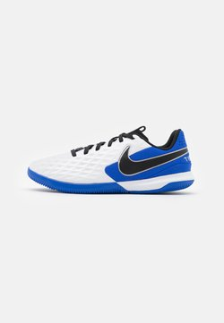 Nike Performance - TIEMPO JR LEGEND 8 ACADEMY IC UNISEX - Fotbollsskor inomhusskor - white/black/hyper royal/metallic silver