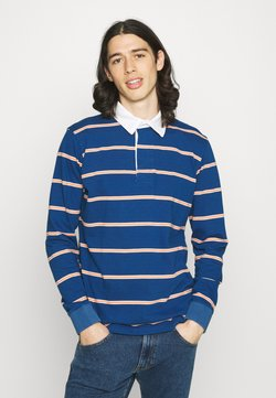 Far Afield - BENITO RUGBY OPTIC STRIPE - Poloshirt - ensign blue