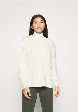 GAP - JAC CABLE SLOUCHY - Sweter - ivory frost
