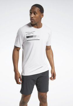 Reebok - ACTIVCHILL GRAPHIC MOVE T-SHIRT - Funktionsshirt - white
