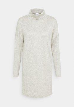 JDY - JDYSARA TONSY COWL NECK DRESS - Neulemekko - silver birch melange