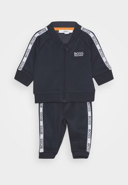 BOSS Kidswear - TRACK SUIT BABY SET - Trainingsbroek - navy