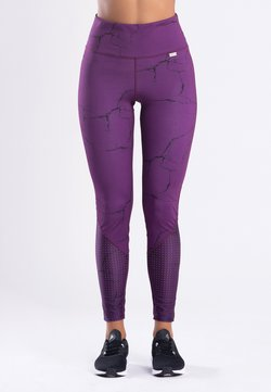 Zoe Leggings - MARBLE  - Tights - purple