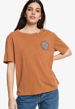 Quiksilver - MEMORY BLOOM STANDARD  - T-Shirt print - clay