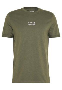 YOURTURN - T-shirt con stampa - olive