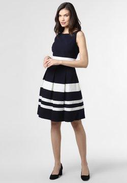 Marie Lund - Jerseykleid - marine weiß
