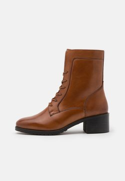 Anna Field - LEATHER - Schnürstiefelette - cognac