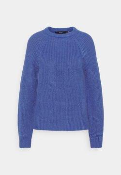 Vero Moda - VMNEWLEA O-NECK - Strickpullover - dazzling blue