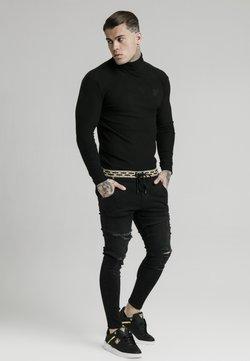 SIKSILK - LONG SLEEVE BRUSHED TURTLE NECK - Jersey de punto - black