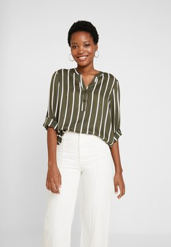 Kaffe - STRIDY BLOUSE - Blusa - grape leaf/chalk