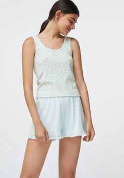 OYSHO - DITSY FLORAL COTTON - Shorts - white