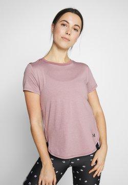 Under Armour - SPORT CROSSBACK - Camiseta estampada - hushed pink/black
