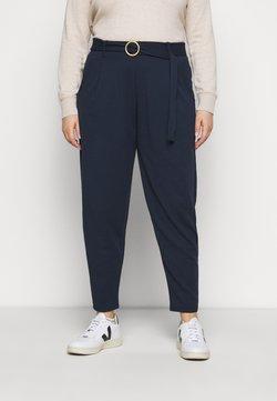 Simply Be - BUCKLE TRIM ANKLE GRAZERTROUSER - Pantalon classique - navy