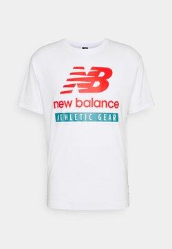 New Balance - ESSENTIALS LOGO TEE - Camiseta estampada - white