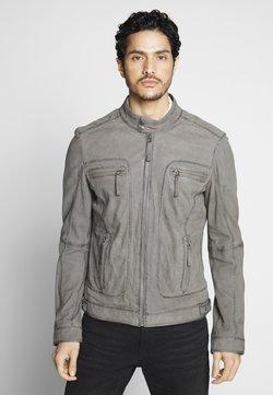 Oakwood - CASTEL - Veste en cuir - grey