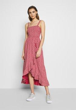 Hollister Co. - STRAPLESS DRESS - Maxi dress - red