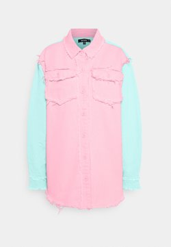 Missguided - FRAYED COLOURBLOCK  - Bluse - pink