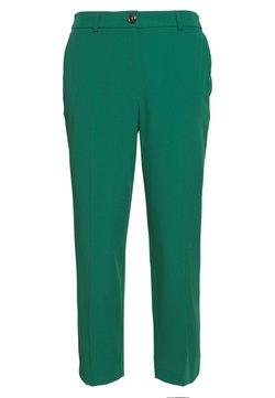 Dorothy Perkins Petite - ELASTIC BACK BUTTONED ANKLE GRAZER TROUSER - Pantalones - emerald