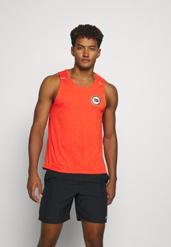 Nike Performance - MILER TANK - Camiseta de deporte - team orange/gelati/reflective silver
