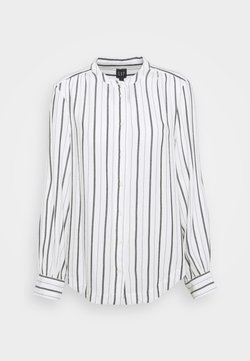 Gap Tall - SHIRRED - Bluse - black white