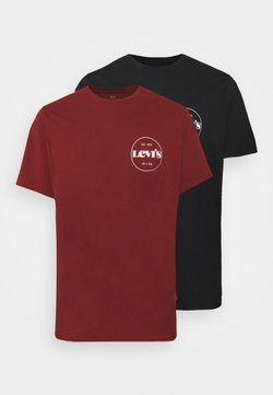 Levi's® Plus - BIG GRAPHIC TEE 2 PACK - T-shirt imprimé - madder brown/caviar