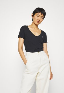 Abercrombie & Fitch - SOFT ICON TEE - T-shirt basic - black