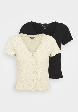 Monki - SONJA 2 PACK - T-Shirt print - black