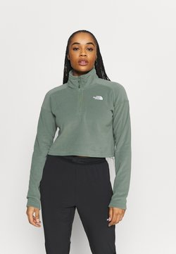 The North Face - GLACIER CROPPED ZIP - Fleecepullover - agave green