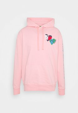 Tommy Jeans - LUV THE WORLD HOODIE - Collegepaita - iced rose