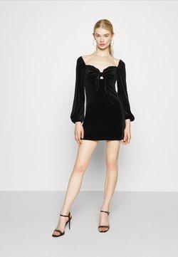 Glamorous - LONG SLEEVE MINI DRESS - Cocktail dress / Party dress - black