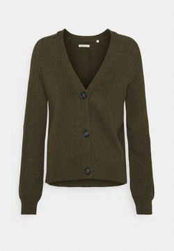 Marc O'Polo - CARDIGAN LONGSLEEVE  - Strickjacke - native olive