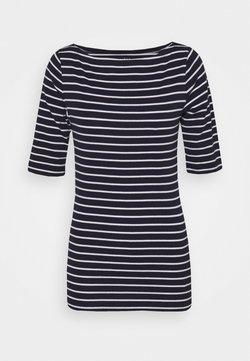 Gap Tall - BOATNECK - T-Shirt print - navy/white
