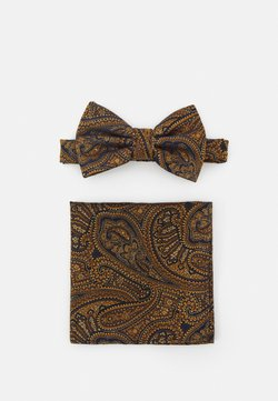 Burton Menswear London - PAISLEY BOWTIE AND HANKIE SET - Fliege - brown