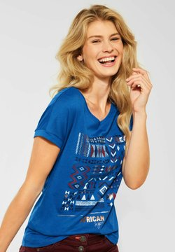 Cecil - MIT ETHNO-PRINT - T-Shirt print - blau