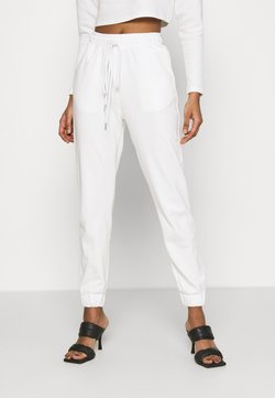 Glamorous - TED TROUSERS WITH FRONT TIE DETAIL - Jogginghose - cream