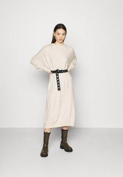 Monki - FELIA DRESS - Vestido de punto - ecru melange