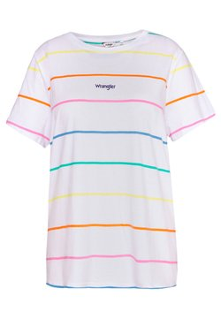 Wrangler Plus - REGULAR TEE - Print T-shirt - real white