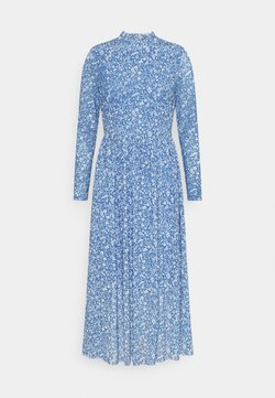 TOM TAILOR DENIM - PRINTED DRESS - Freizeitkleid - mid blue