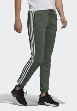 adidas Performance - ESSENTIALS FRENCH TERRY STRIPES PANTS - Jogginghose - greoxi/white