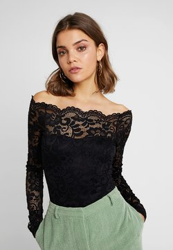 Nly by Nelly - OFF SHOULDER BODY - Pusero - black