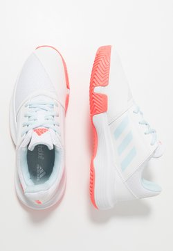 adidas Performance - COURTJAM - Tennisschuh für Sandplätze - sky tint/signal pink/footwear white