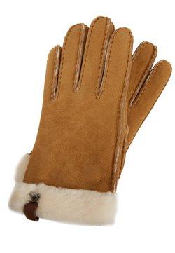 UGG - SHORTY GLOVE TRIM - Rękawiczki pięciopalcowe - chestnut