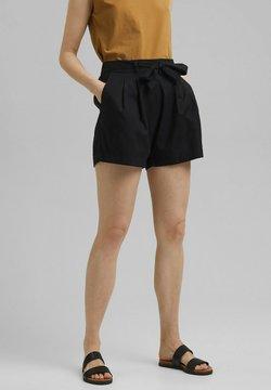 Esprit - MIX:MIT GUMMIBUND - Shorts - black