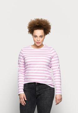 Pieces Curve - PCRIA NEW TEE - Langarmshirt - bright white/pastel lavender